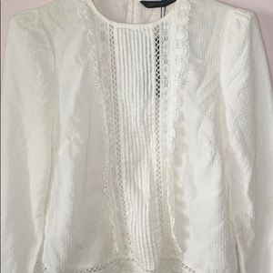 Zara Top with Lace Details